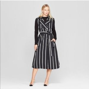 Reposh | Sleevless Striped Trench Coat